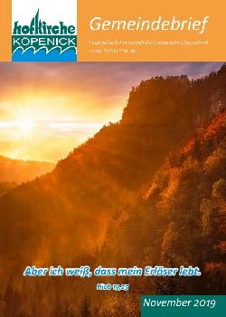 Coverfoto Gemeindebrief