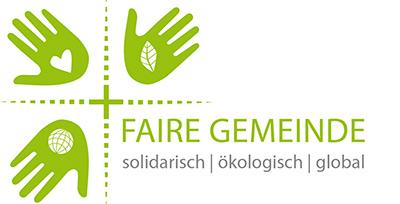 """Logo Faire Gemeinde mit dem Untertitel """"solidarisch, ökologisch, global"""""""